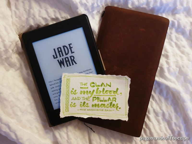 Jade Ware The Green Bone Saga Review Pages and Coffee Cups